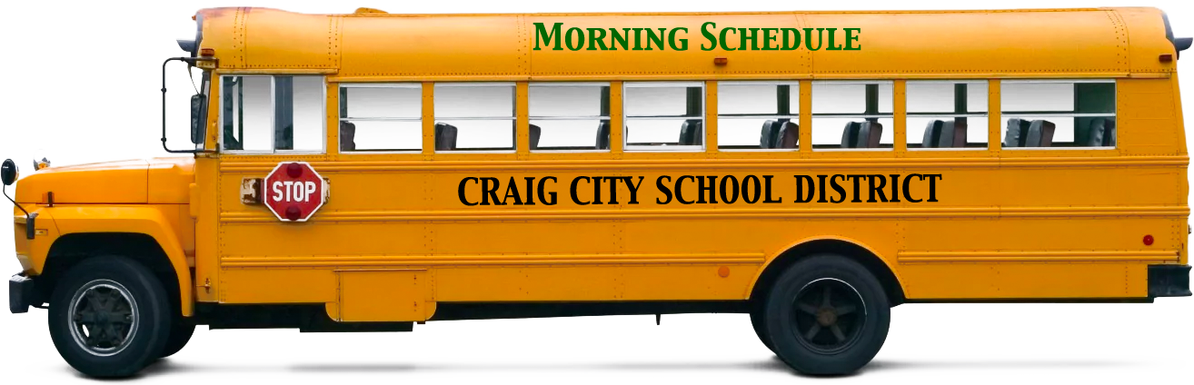 School Bus AM Schedule