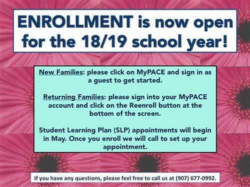 Online Enrollment is Open!